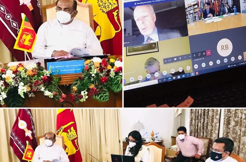 Mahinda Yapa Abeywardana represents the Asian Region at the three-day virtual conference of the Commonwealth Parliamentary Association Executive Committee Meeting